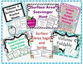 Surface Area and Volume Bundle (Task Cards, Scavenger Hunt, Foldable, and more!)