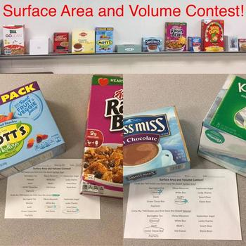 Surface Area and Volume Contest and Exploration