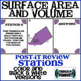 Surface Area and Volume Cooperative Post-It Review Stations