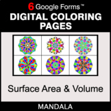 Surface Area and Volume - Digital Mandala Coloring Pages |