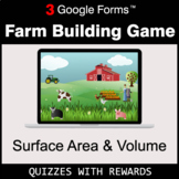 Surface Area and Volume | Farm Building Game | Google Form