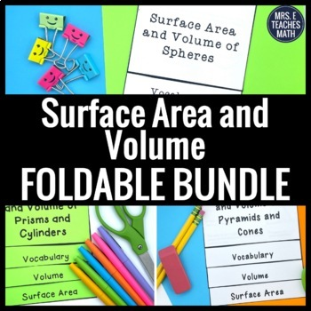 Surface Area and Volume Flipbook Bundle