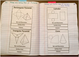 Surface Area and Volume Foldable Notes SOL(2016) 8.6a