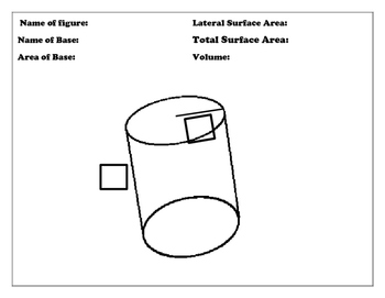 Surface Area and Volume Formula Match