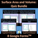 Surface Area and Volume Google Forms Bundle Geometry