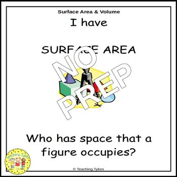 Surface Area and Volume I Have, Who Has Game