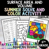 Surface Area and Volume No Prep Solve and Color Activity -