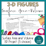 Surface Area and Volume Project