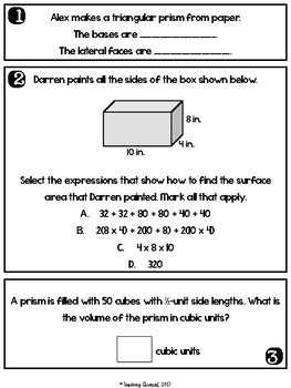 Surface Area and Volume Questions
