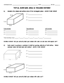 Surface Area and Volume Review