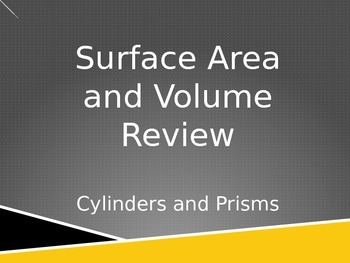 Surface Area and Volume Review PPT