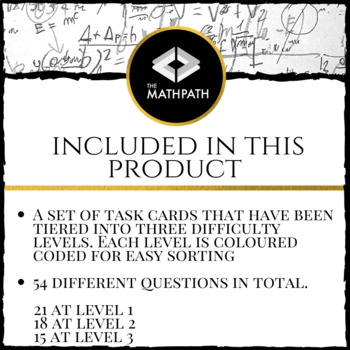 Surface Area and Volume Review Tiers Activity