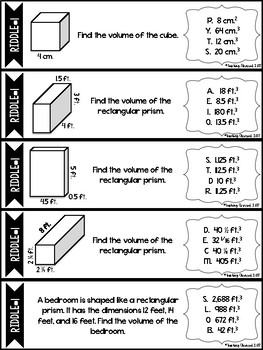 Surface Area and Volume Riddles *CCSS Aligned*