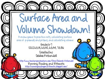 Surface Area and Volume Showdown Game