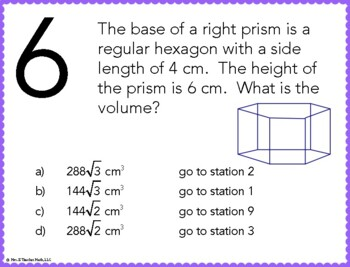 Surface Area and Volume Stations Maze