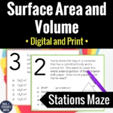 Surface Area and Volume Activity   Digital and Print