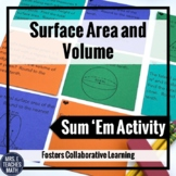 Surface Area and Volume Sum Em Activity