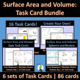Surface Area and Volume Task Card Bundle Geometry