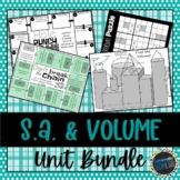 Surface Area and Volume Unit Bundle; Geometry, 3-D figures