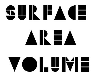 Surface Area and Volume Vocabulary Word Wall - Geometric Font 1 (Vocab)