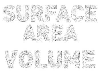 Surface Area and Volume Vocabulary Word Wall - Geometric Font 2 (Vocab)