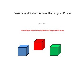 Surface Area and Volume: What's the Difference?   Contrasting Surf. Area & Vol