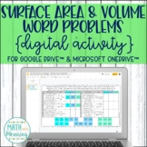 Surface Area and Volume Word Problems Rectangular Prisms DIGITAL Activity