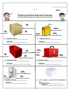 surface area and volume worksheet - Surface Area And Volume Worksheet