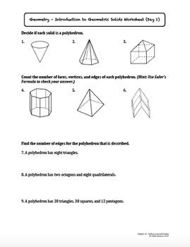 Surface Area and Volume Worksheet Bundle