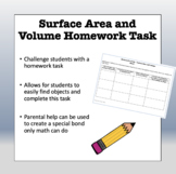 Surface Area and Volume at Home Activity