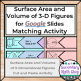 Surface Area and Volume of 3-D Figures GOOGLE DRIVE Puzzle
