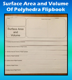Surface Area and Volume of Polyhedra Flipbook