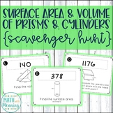 Surface Area and Volume of Prisms and Cylinders Scavenger Hunt Activity