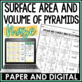 Surface Area and Volume of a Pyramid Maze Activity