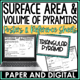 Surface Area and Volume of Pyramids Posters | Distance Learning | Digital