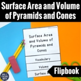 Surface Area and Volume of Pyramids and Cones Flipbook