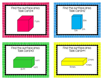 Surface Area and Volume of Rectangular Prisms Task Cards BUNDLE