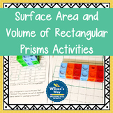 Surface Area and Volume of Rectangular Prisms Activities