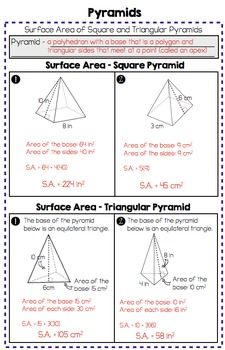 Surface Area and Volume of Right Prisms and Pyramids - Practice Pages (7.G.6)