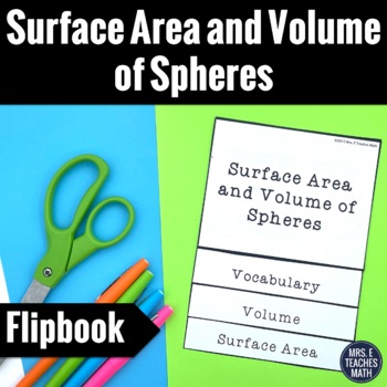 Surface Area and Volume of Spheres Flipbook