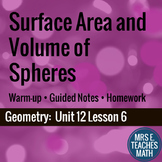 Surface Area and Volume of Spheres Lesson
