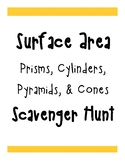 Surface Area of 3D Figures Scavenger Hunt