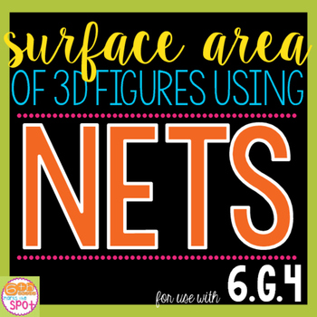 Surface Area of 3D Figures Using Nets CCSS 6.G.4 Aligned**