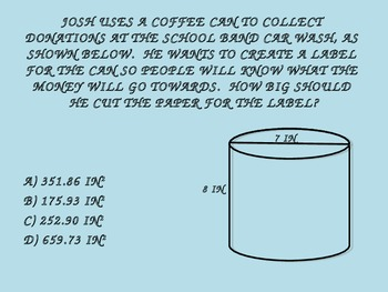 Surface Area of 3D Solids Word Problem Review
