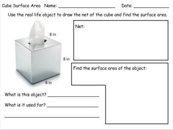 Surface Area of Cubes - Real Life Objects