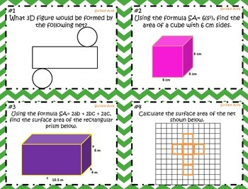 Surface Area of Cubes and Rectangular Prisms ~Aigned to CCSS 6.G.4