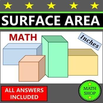 Surface area of cuboids – Math