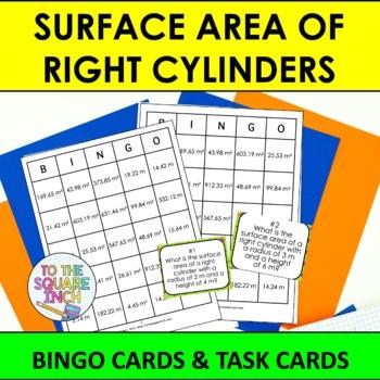 Surface Area of Cylinders Bingo