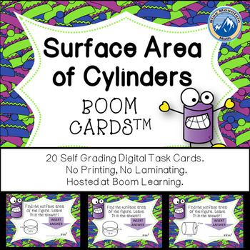 Surface Area of Cylinders Boom Cards--Digital Task Cards