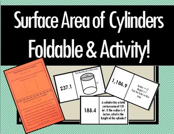 Surface Area of Cylinders - Foldable & Dominoes!